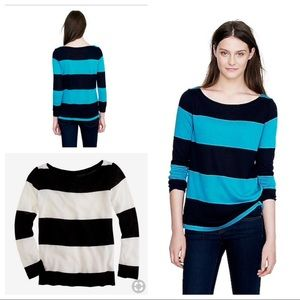 J. Crew Rugby Stripe Boatneck Sweater Pullover